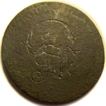 WI 22-A Folk Art Rendition on a coin georgewashingtoninauguralbuttons.com O