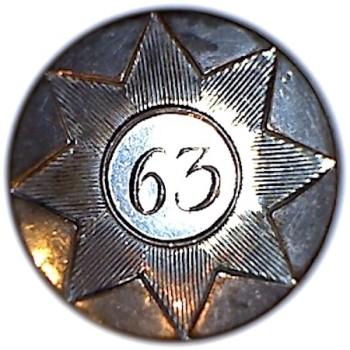 1776-1782 63rd Regt of Foot 24mm Coat Silvered Bone Back RJ Silversteins georgewashingtoninauguralbuttons.com O