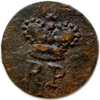 1780 Royal Provincial 22mm copper orig shank rj silversteins georgewashingtoninauguralbutton.com o