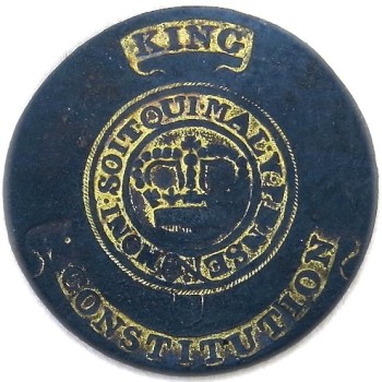 1784-1790's King & Constitution 23.74mm Gilt Brass georgewashingtoninauguralbuttons.com O1
