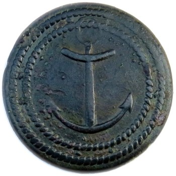 1789-1815 French Colonial Troops Similar to Albert's NA 3-B 27mm georgewashingtoninauguralbuttons.com O