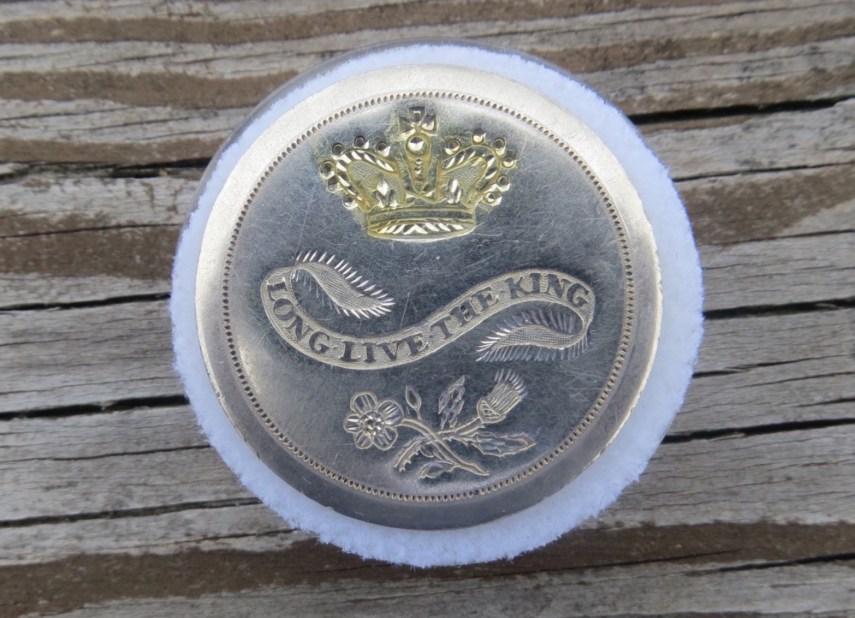1789 Long Live The King 36.27mm RJ Silversteins Georgewashingtoninauguralbuttons.com O1