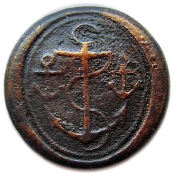 1805-07 Royal Navy Masters 22mm excav. in fort erie in water. georgewashingtoninauguralbuttons.com O