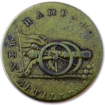 1812-15 New Hampshire Militia 24mm Gilt Brass RJ Silversteins georgewashingtoninauguralbuttons.com r