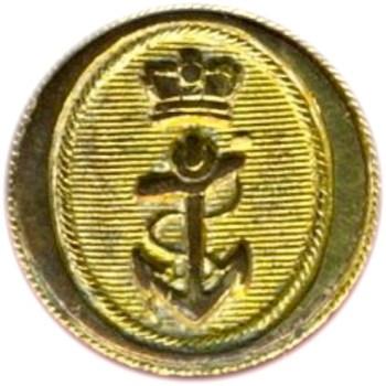 1812 War Royal Navy Officer 15mm Gilt Brass cockade Hat Orig Shank o1