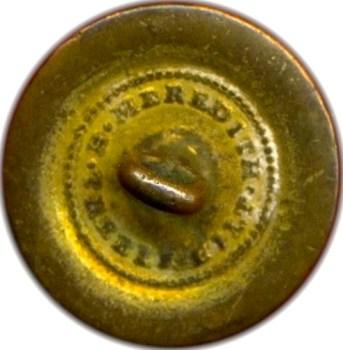 1812 War Royal Navy Officer 21mm Gilt Brass Rare Variant Orig Shank r