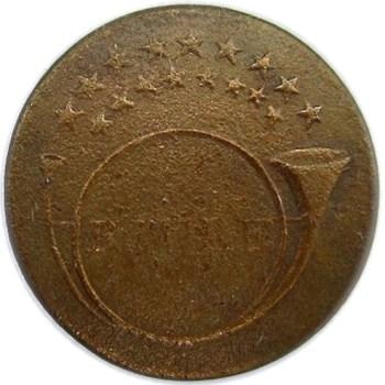1814-15 Regiment of Rifleman 20mm Brass georgewashingtoninauguralbuttons.com O