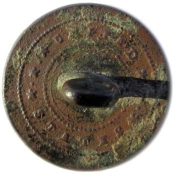 1820-30's IS Infantry 20mm Brass Rolla Missouri Dug Albert's GI 70-B RJ Silverstein's georgewashingtoninauguralbuttons.com R