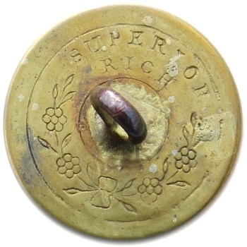 1820's Militia Rifles Officer's 22.31mm Gilt Brass RJ Silversteins georgewashingtoninauguralbuttons.com R