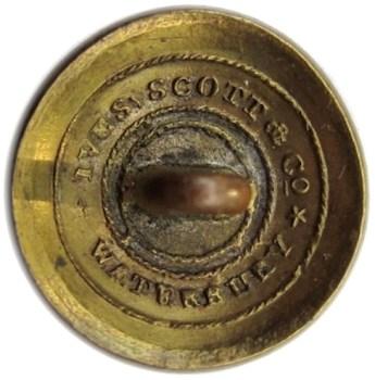 1830-40 US Infantry GI 80 19mm G.brass RJ Silverstein's georgewashingtoninauguralbuttons.com R2