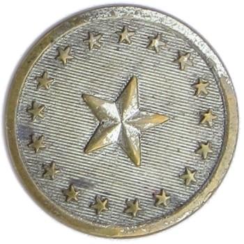 1830's Maine State Militia Northern Star 21.52mm Silver Plated ME 100B.6 ME 4 RJ Silversteins georgewashingtoninauguralbuttons.com O
