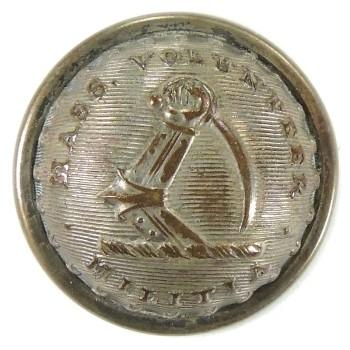 1840-1865 Massachusetts Vol. Militia 22mm MS 210 d.1 MS 35 RJ Silversteins goergewashingtoninauguralbuttons.com O