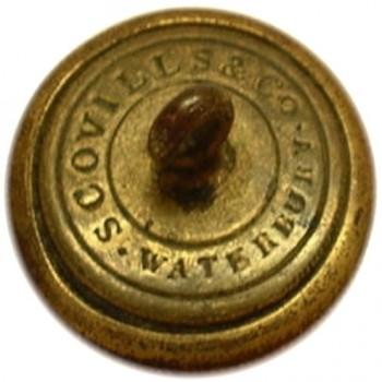 1840 Texas Navy 23mm Brass Orig Shank tice's TX224 r