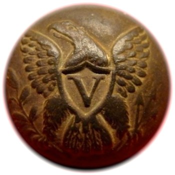 1847-48 Volitgeurs 20mm Gilded Brass georgewashingtoninauguralbuttons.com o
