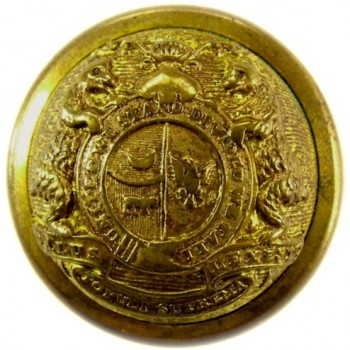 1850 Missouri State Seal 22.3mm Gild Brass RJ Silversteins georgewashingtonbuttons.com O