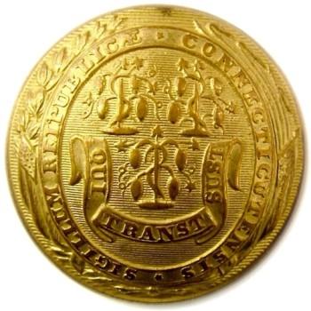 1850's Active Militia CT 205B.3 22.8mm Gilt Brass georgewashingtoninauguralbuttons.com O
