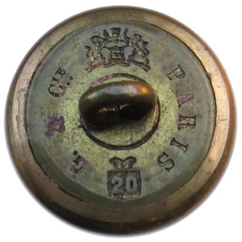 1852-70 Official Diplotatic Service 20.89 Gilt Brass RJ Silverstein georgewashingtoninauguralbuttons.com R