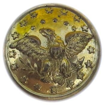 1853-73 Official Diplomatic Service 15.18mm Gilt Brass RJ Silversteins georgewashingtoninauguralbuttons.com O