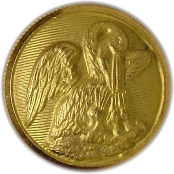 1860 Louisiana 22.5mm Gilt Brass LA220A.6 LA6 RJ Silversteins georgewashingtoninauguralbuttons.com O