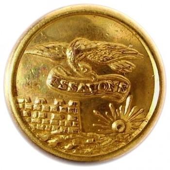1860's Federal Engineers 15mm Gilt Brass Albert EG6 Tice EG215Es.3 RJ Silversteins georgewashingtoninauguralbuttons.com O