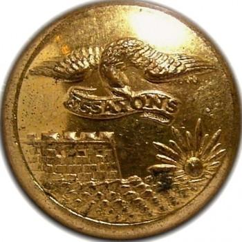 1860's Federal Engineers 23.1mm Gilt Brass Albert EG6 Tice EG215G.UNLISTED RJ Silversteins georgewashingtoninauguralbuttons.com O