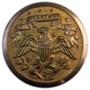 1860's Official Diplotatic Service 24.29 Gilt Brass 2-Piece Albert's OD 20 RJ Silversteins georgewashingtoninauguralbuttons.com O