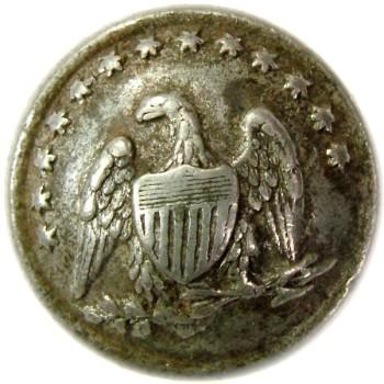 1861-65 Pennsylvania 83rd Volunteer Regt. 16.7mm White Metal RJ Silversteins georgewashingtoninauguralbuttons.com O