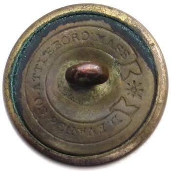 1865-Post Massachusetts Militia Independent Corps of Cadets 23.23mm Gilt Brass MS 202c.1 - MS 30 georgewashingtoninauguralbuttons.com R