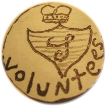 18th Century Loyalist Button rj silversteins george washington inaugural buttons BCL-17r