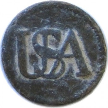 Enlisted Man's Pattern USA (French Import) Button 18mm Virginia Dug RJ SILVERSTEIN'S GEORGEWASHINGTONINAUGURALBUTTONS.COM O