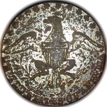 Official & Diplomatic Button OD 19 RV 35 22.5mm no shank Dug at old pasture Long Island NY RJ Silversteins Georgewashingtoninauguralbuttons.com O
