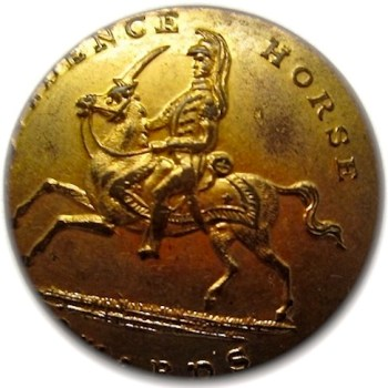 Rhode Island Providence Horse Guard 1842-48 22mm Gilded Brass georgewashingtoninauguralbuttons.com O