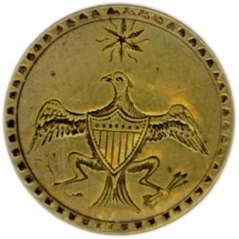 WI 12-A 35mm Brass Bergen County Historical Society Members rj silverstein's georgewashingtoninauguralbuttons.com O