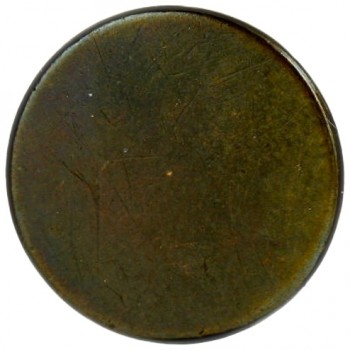 ANDREW JACKSON BACKNAME BUTTON 20MM MARCH 4, 1829 ORNAMENTAL RECTANGLE SUROND. BY STARS ORIG GILT Georgewashingtoninauguralbuttons.com 4 KNOWN TO EXIST