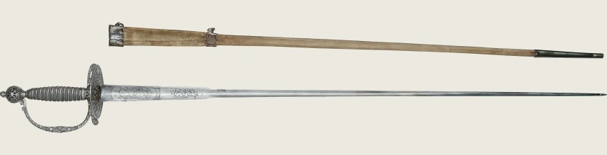 George Washingtons 1767 Silver Hilted Smallsword O