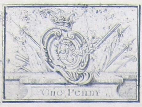 1745 Prince Bonnie Bronze Money Plate RJ Silverstein's georgewashingtoninaugurlbuttons.com O