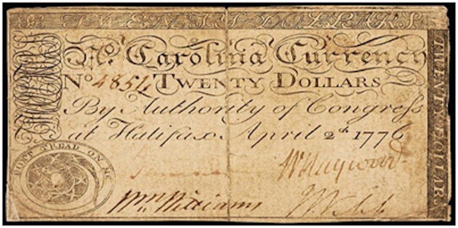 Robert Scot Currency Note Scrolling Art Work RJ Silversteins georgewashingtoninauguralbuttons.com O