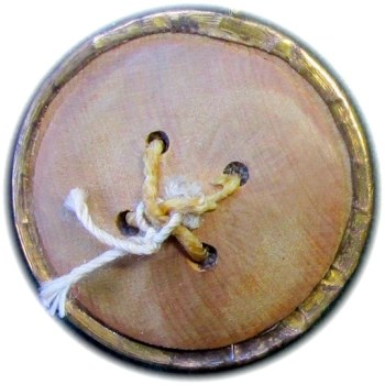 1775-94 Generals 30mm Gilt Brass Rope Edge Trim Wood Back R