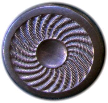 1775 General Button 30mm Copper Swirl Plain Flat thick Border O
