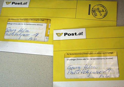 Post Paketbriefe