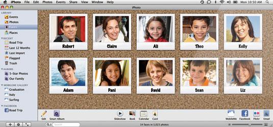iLife '09, Gesichtserkennung, (c) Apple Inc.