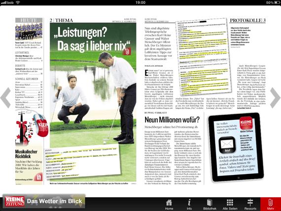 iPad Kleine Zeitung