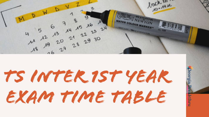 TS Inter 1st Year Exam Time table 2020