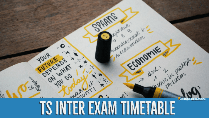 TS Intermediate Exam time table 2020