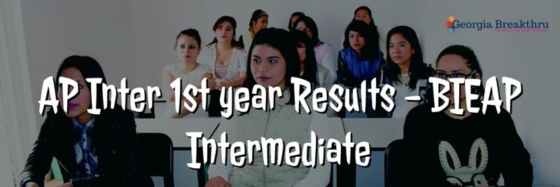AP Intermediate 1st year results 2020 - bieap inter result 2020