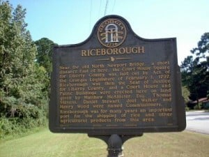 Riceborough Historical Marker Photo © and submission by Jon Collins.