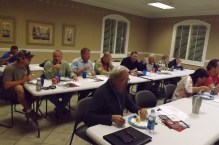 Members enjoy meal prior to presentation