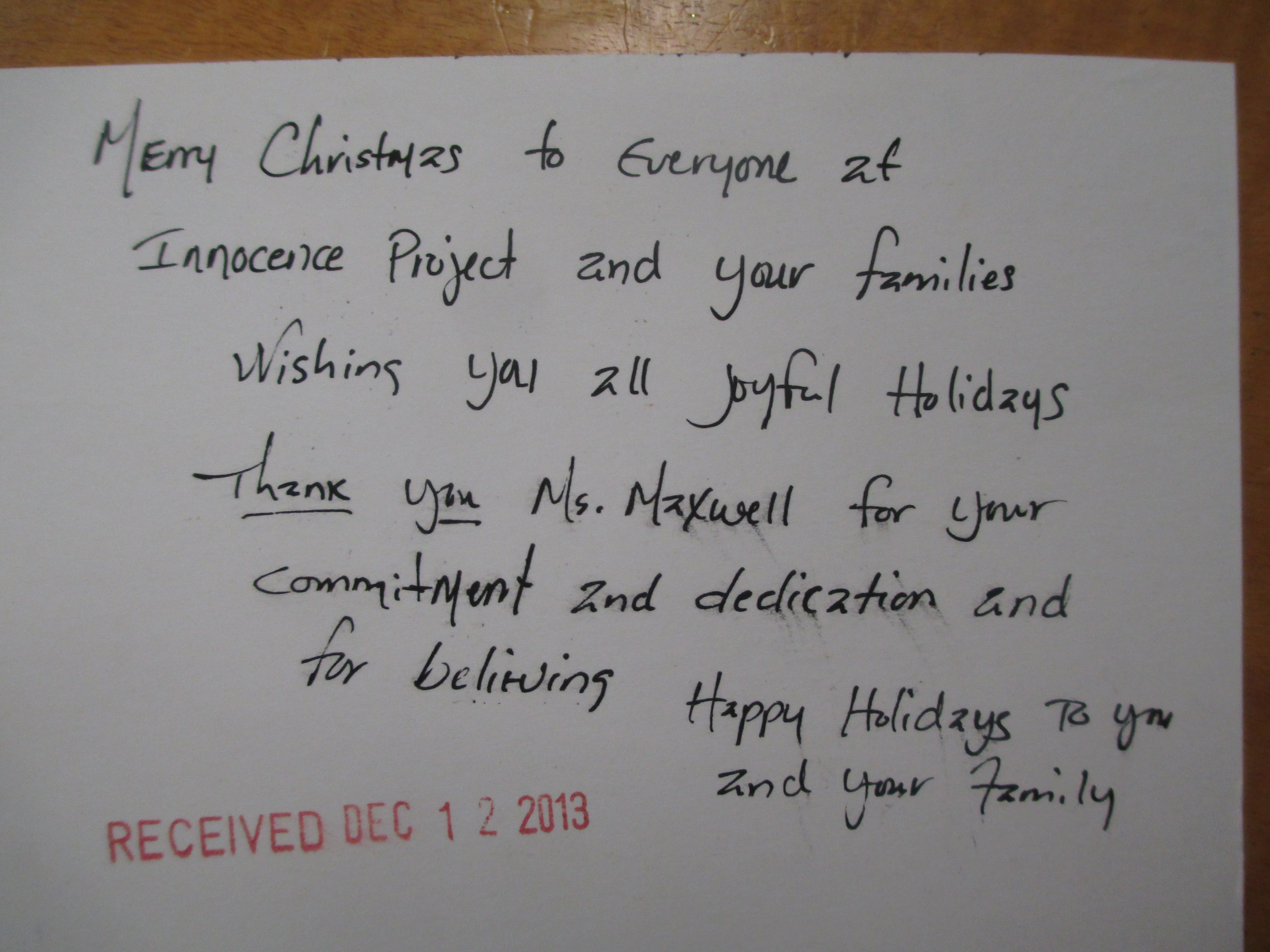 Holiday Cards Inspire GIP Georgia Innocence Project
