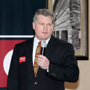 Mike Collins, campaigning in 2014 in Gwinnett County.  Photo: Jon Richards
