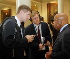 5th District Democratic Congressman John Lewis is interviewed after qualifying for his seat.